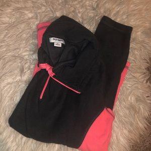 Grey / pink fleece quarter Zip